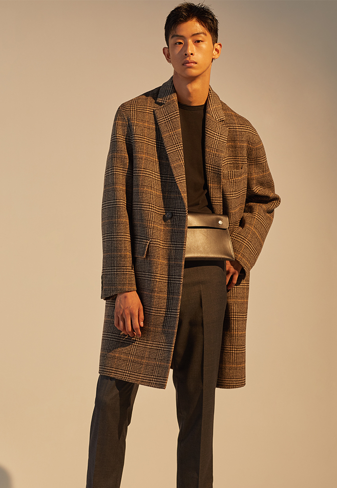 Signature Hand-made Coat_ Brown Glen Check