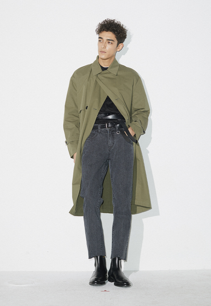 Signature Ring Trench Coat_ Khaki