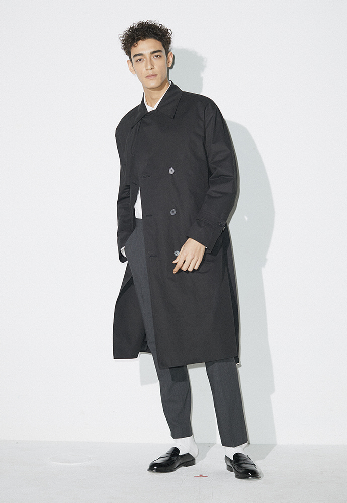 Signature Ring Trench Coat_ Black