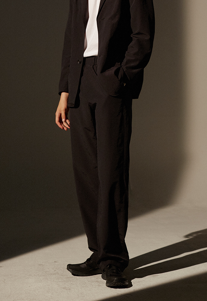 Sloppy Drawstring Pants_ Black
