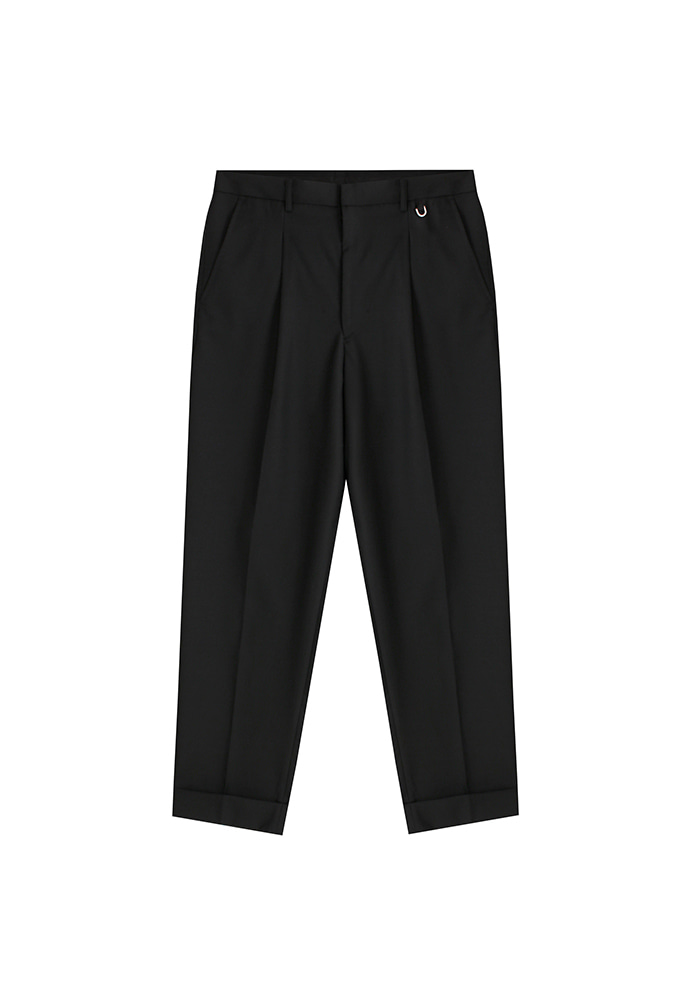 Crease Relaxed Trousers_ Black