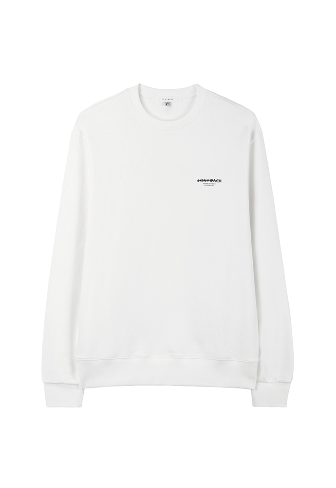 Dept. Stiff Sweatshirt_ White