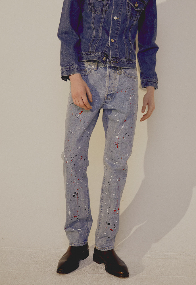 Crudo Painting Jeans_ Light Blue