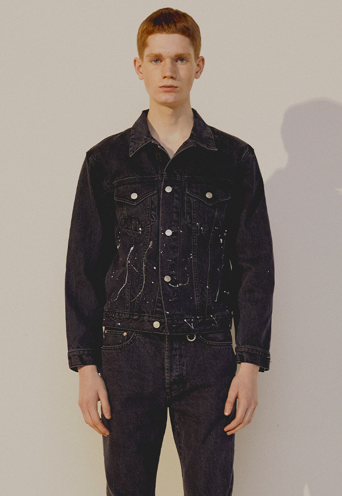 Musk Painting Denim Jacket_ Black Washing