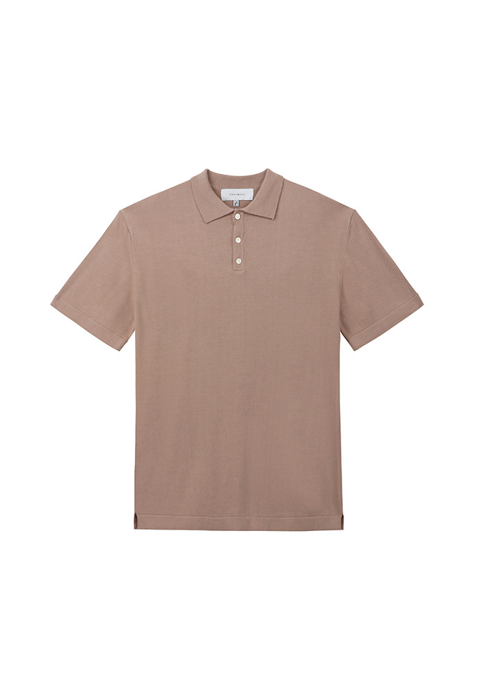 Saint Silk Polo Knit_ Rosewood
