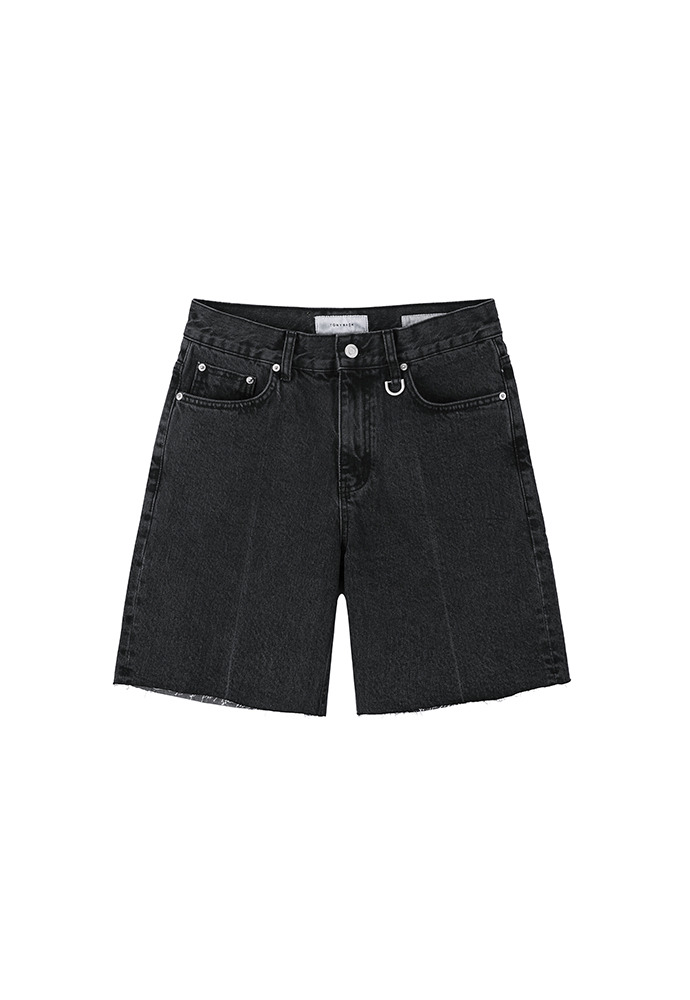 Core Denim Shorts_ Black Washing