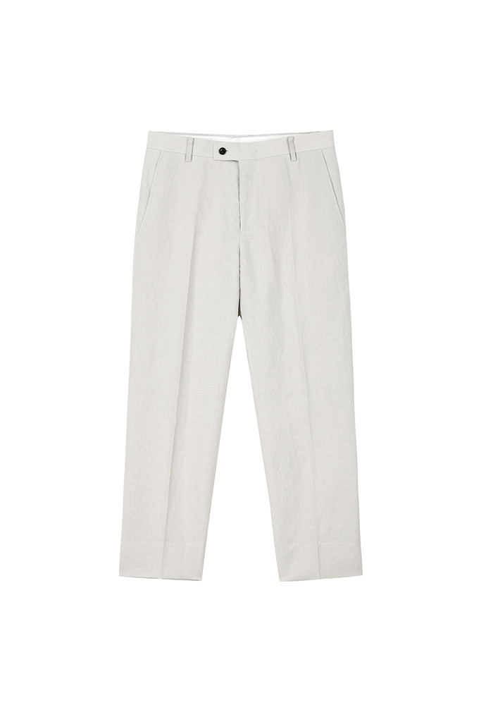 Muse Linen-cotton Trousers_ Cream Beige