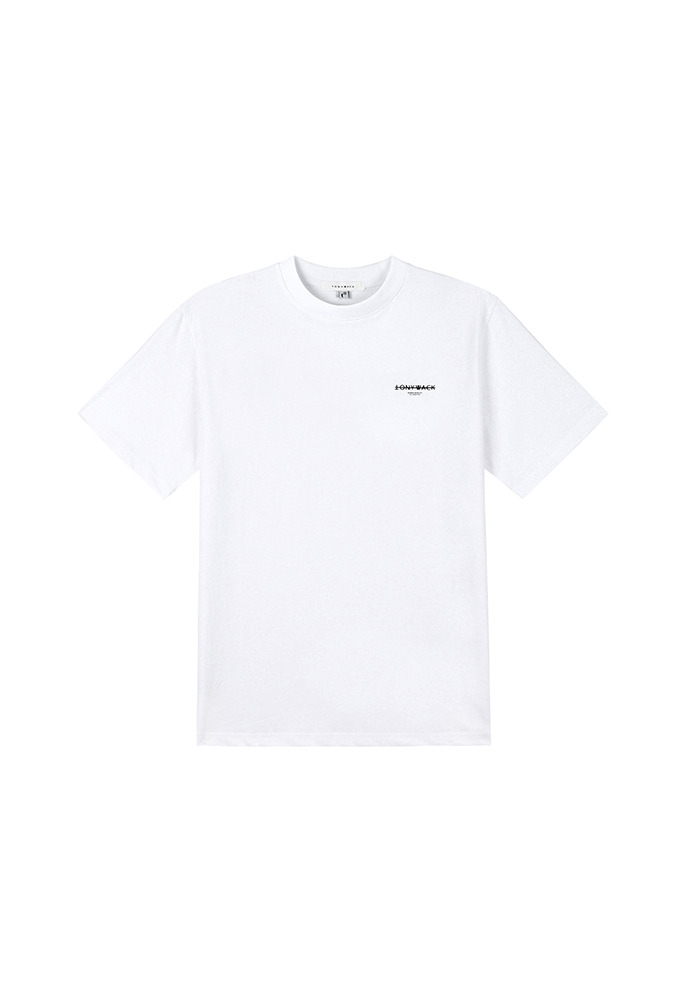 20SS Dept. Mock-Neck T-Shirt_ White/Black
