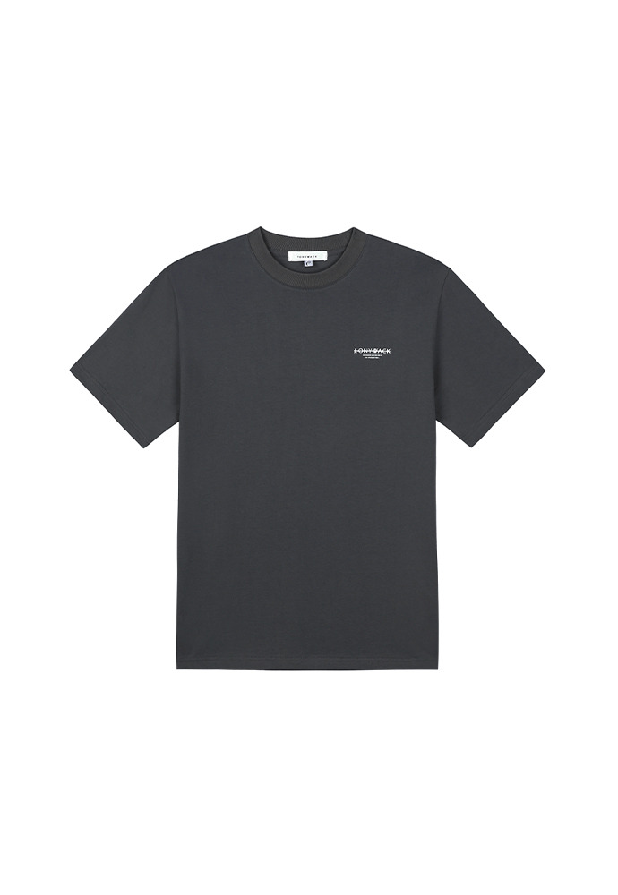 20SS Dept. Mock-Neck T-Shirt_ Charcoal