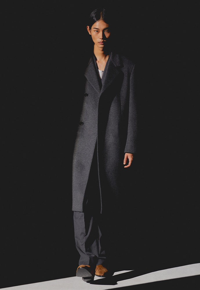 Sortie Cashmere Wrap Coat_ Charcoal
