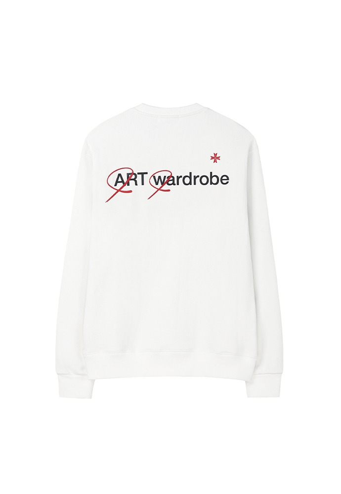 Wardrobe Sweatshirt_ Cream (Red)