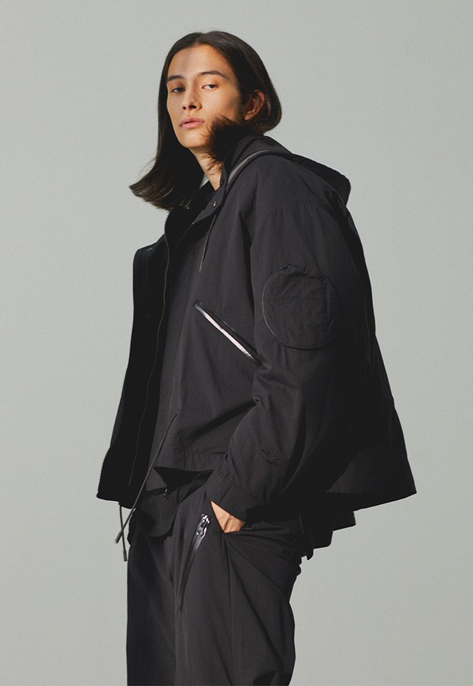 [TONYWACK X UMBRO] Full Zip-Up X Padding_ Black