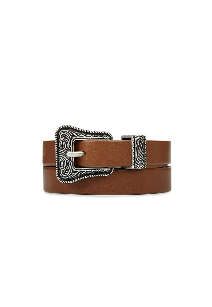Brut Slim Western Belt_ Brown