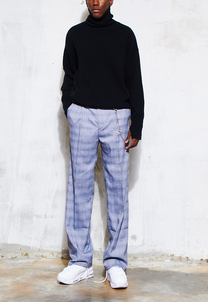 Crudo Check Wide Trousers _ Houndstooth