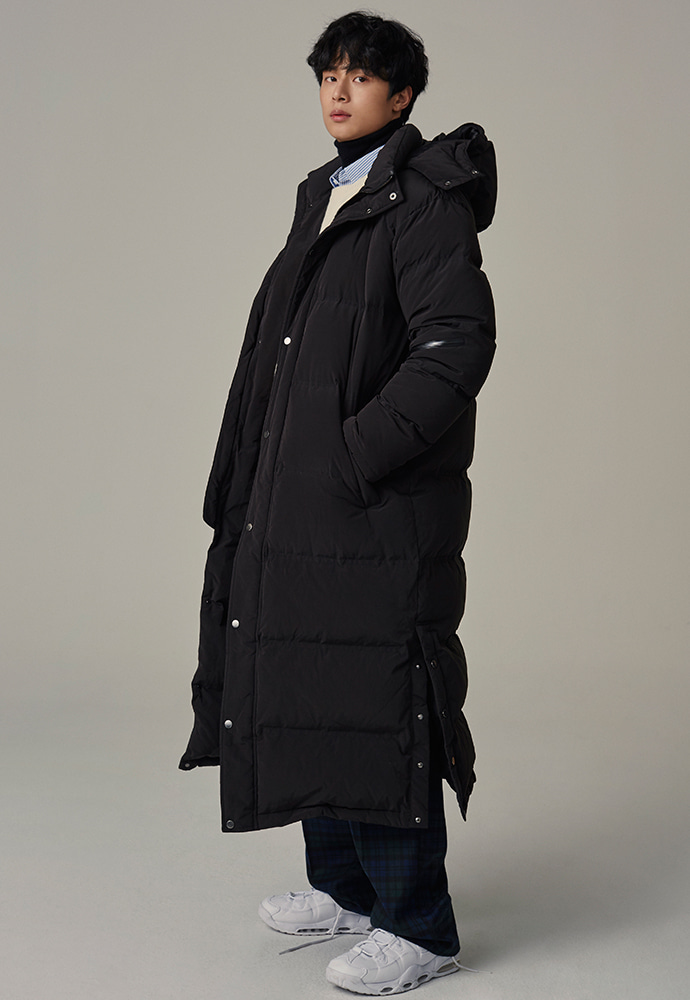 Crudo Long Padding Coat Duck Down _ Black