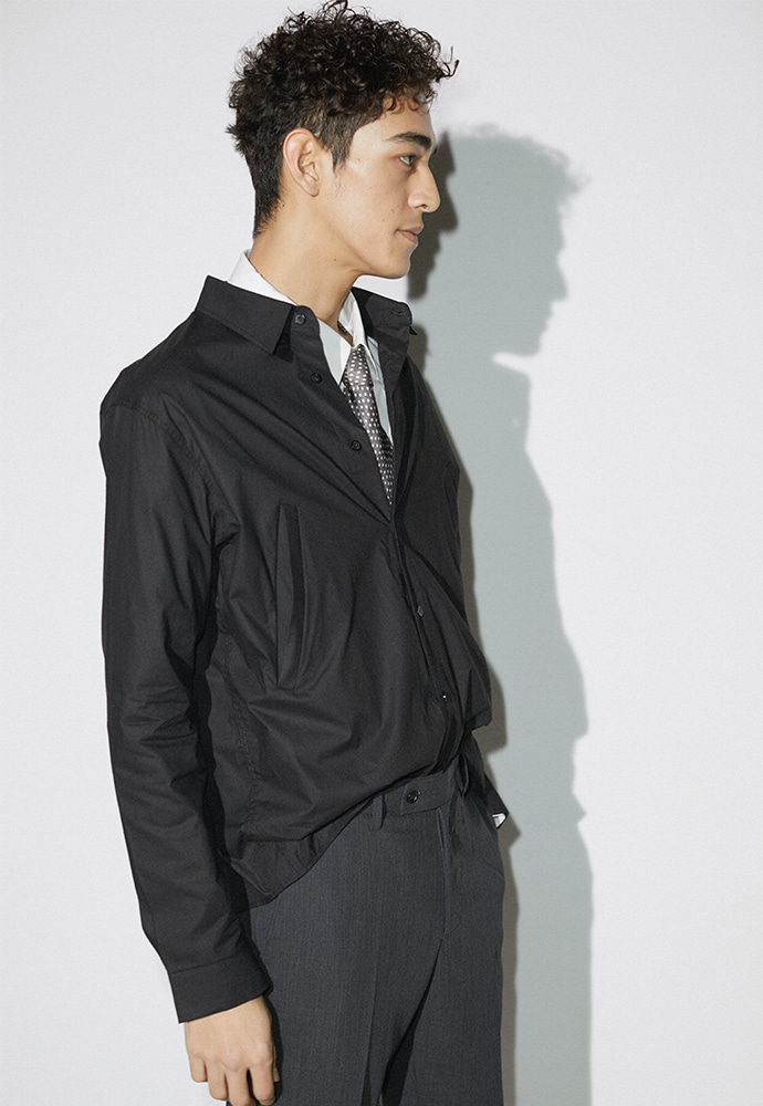 Signature Double-Pocket Shirt_ Black