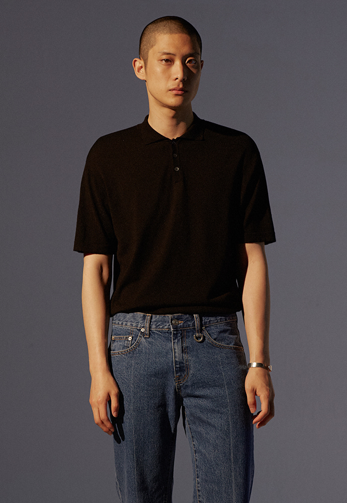 Saint Polo Knit_ Black