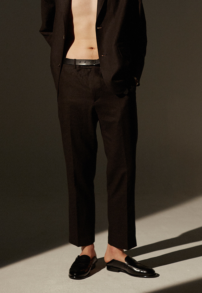 Louis Linen Trousers_ Black