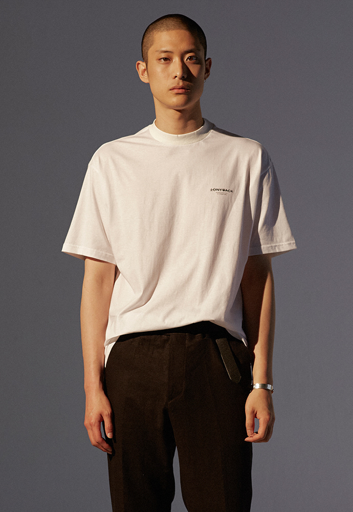 Dept. Mock-Neck T-Shirt_ White