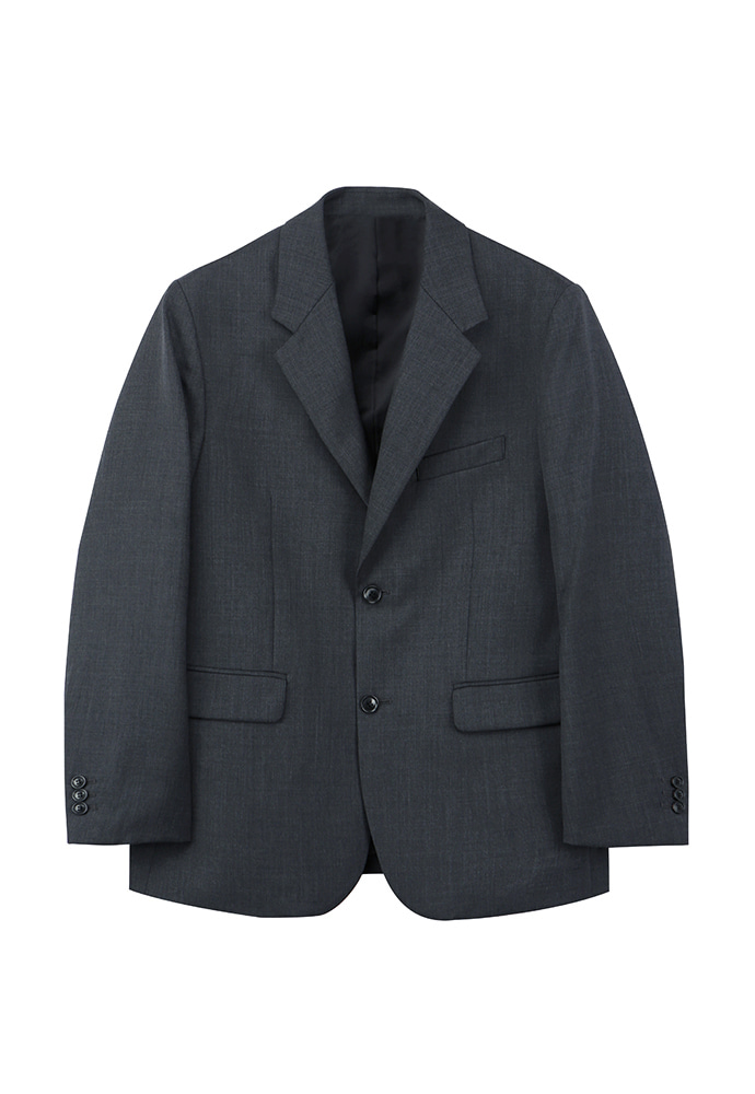 Signature 2-button Blazer_ Grey