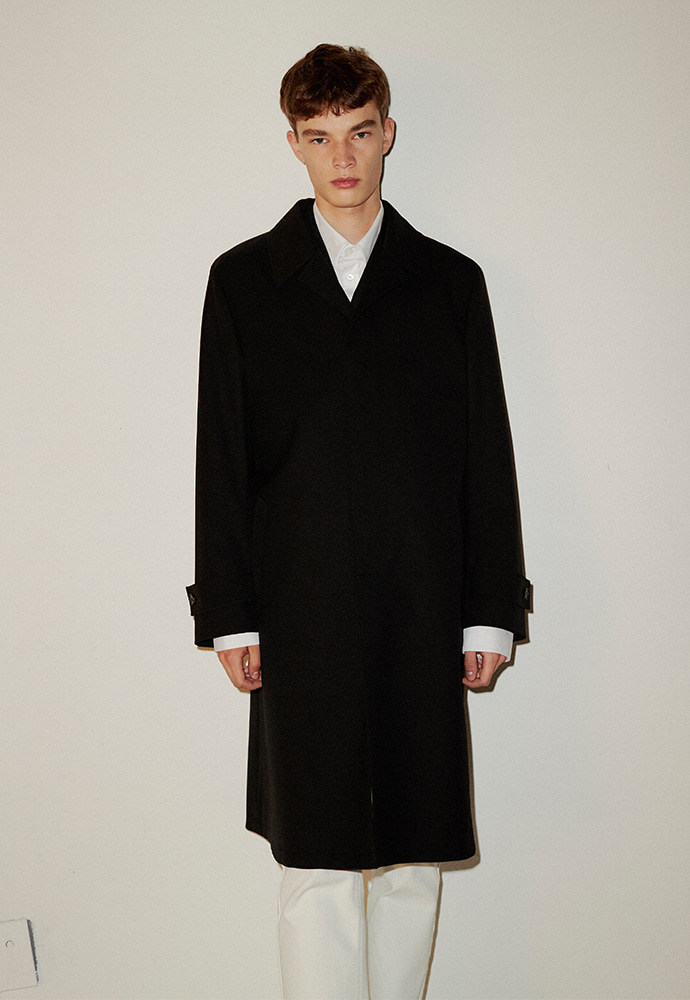 Signature Wool Mac Coat_ Black