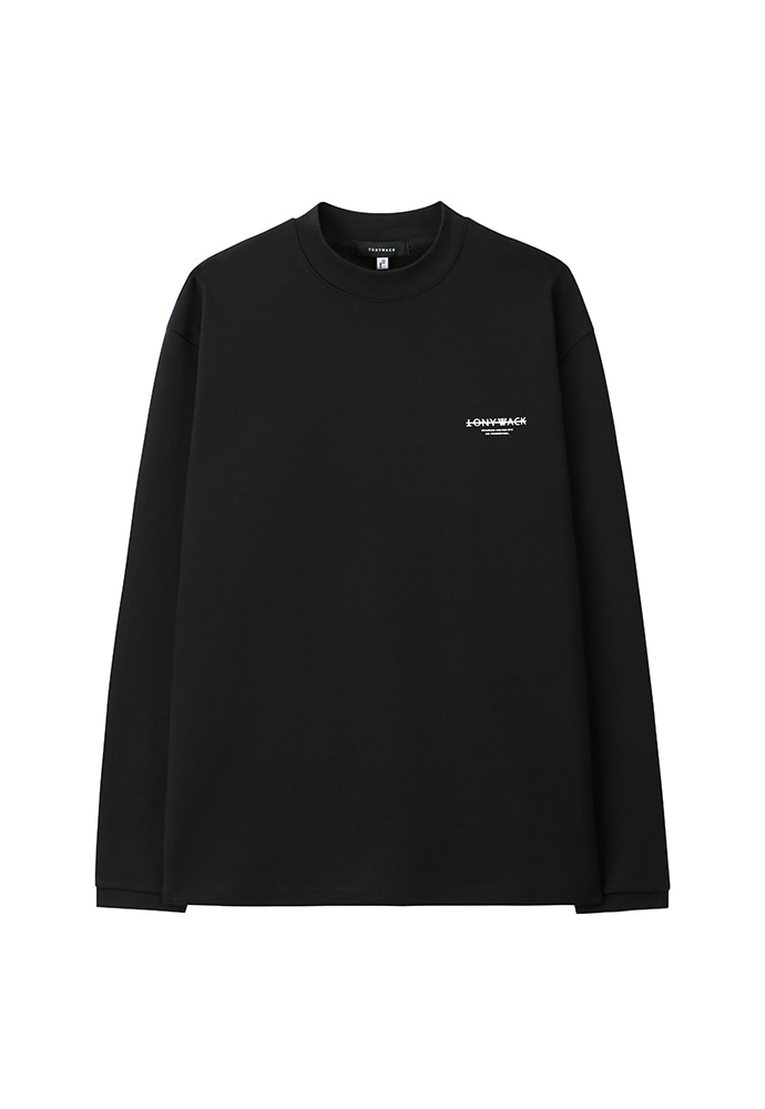 Dept. Stiff Mock-Neck Long Sleeve_ Black
