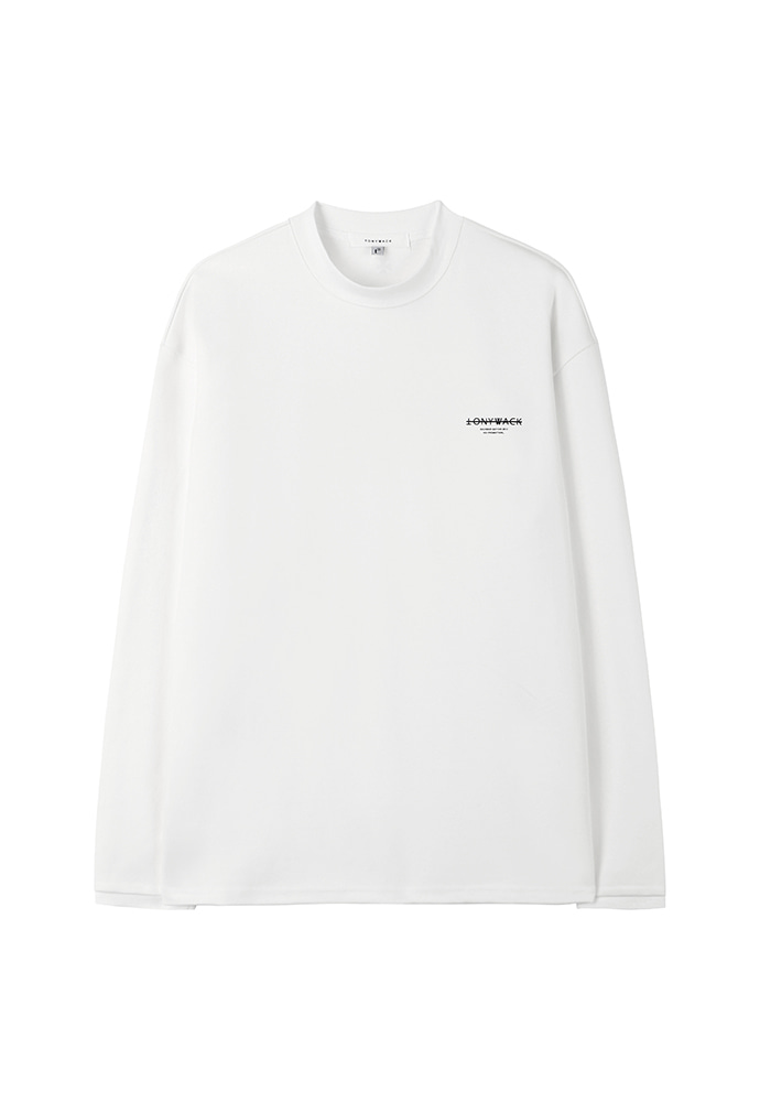 Dept. Stiff Mock-Neck Long Sleeve_ White