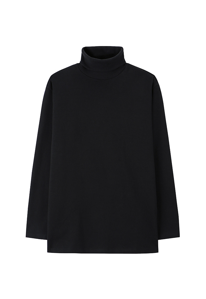 Dept. Jersey Turtle-Neck_ Black
