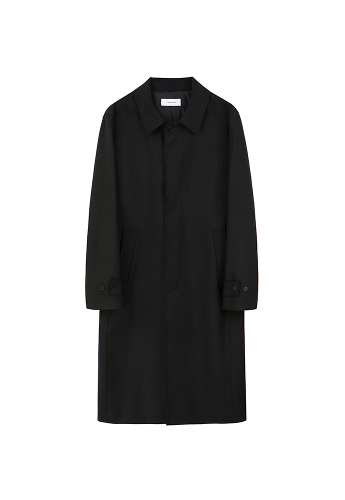 Miles Wool Mac Coat_ Black