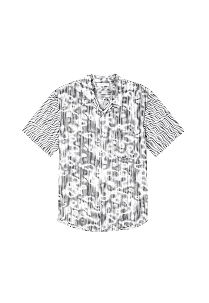 Webb Painting-Stripe Shirt_ Black