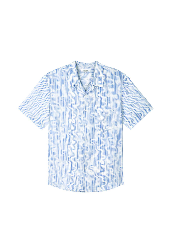 Webb Painting-Stripe Shirt_ Blue