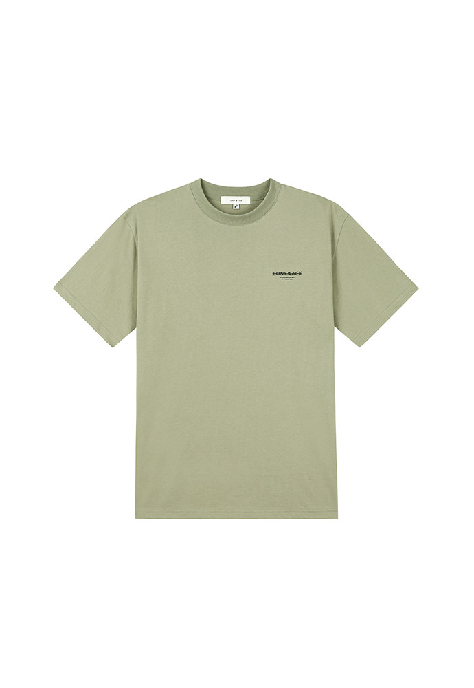 20SS Dept. Mock-Neck T-Shirt_ Pale Khaki