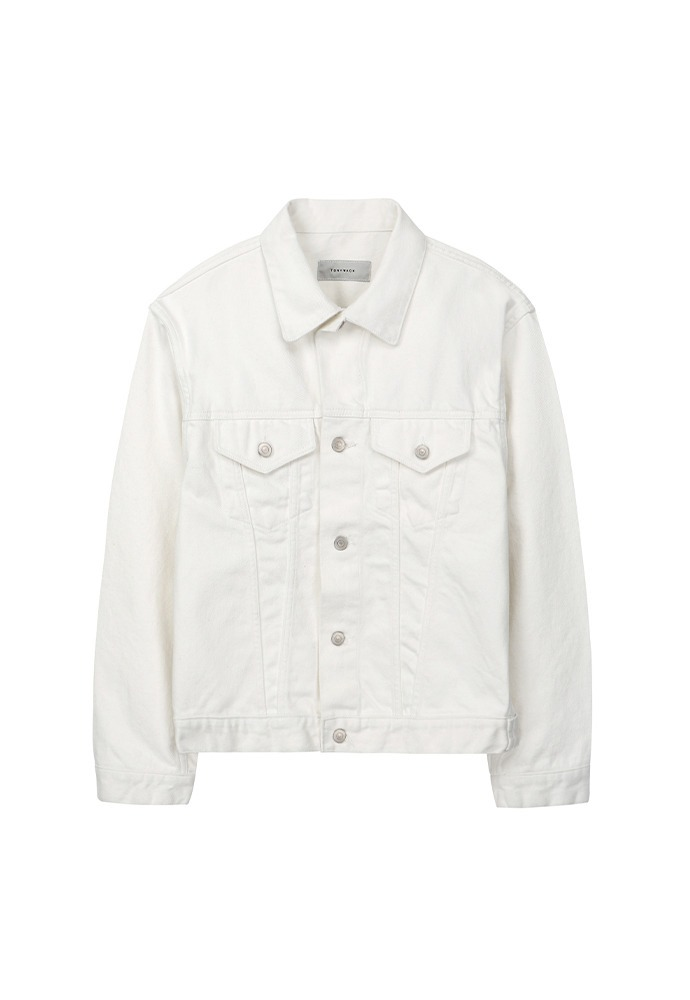Musk Denim Jacket_ White