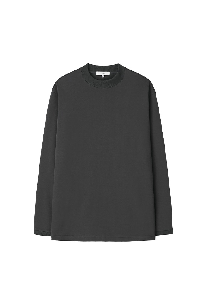 Sortie Mock-Neck Long Sleeve_ Charcoal