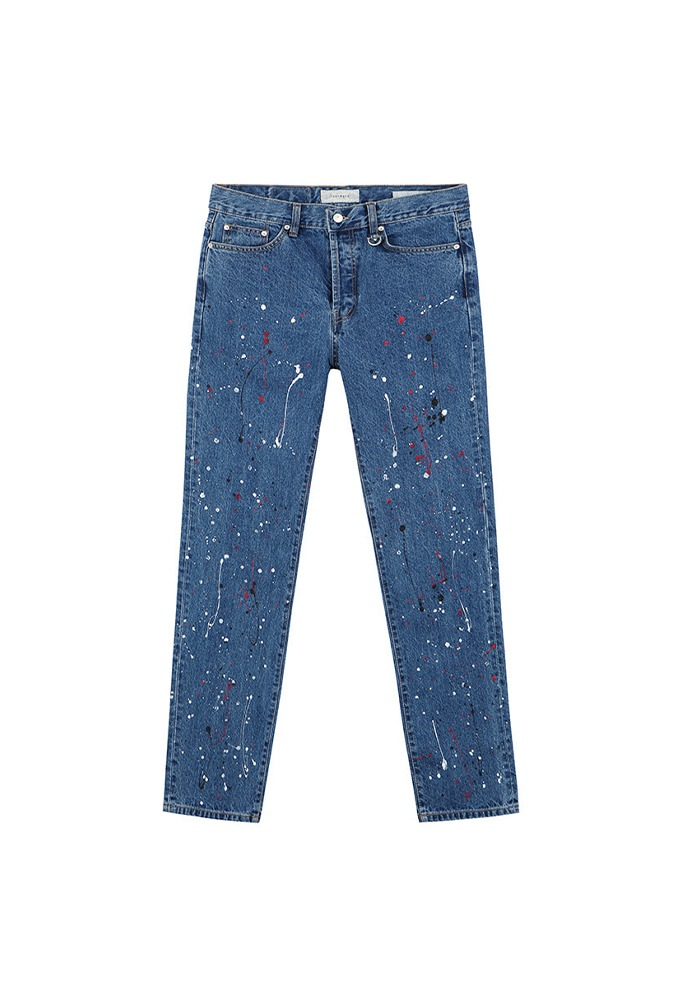 Crudo Painting Jeans_ Mid Blue