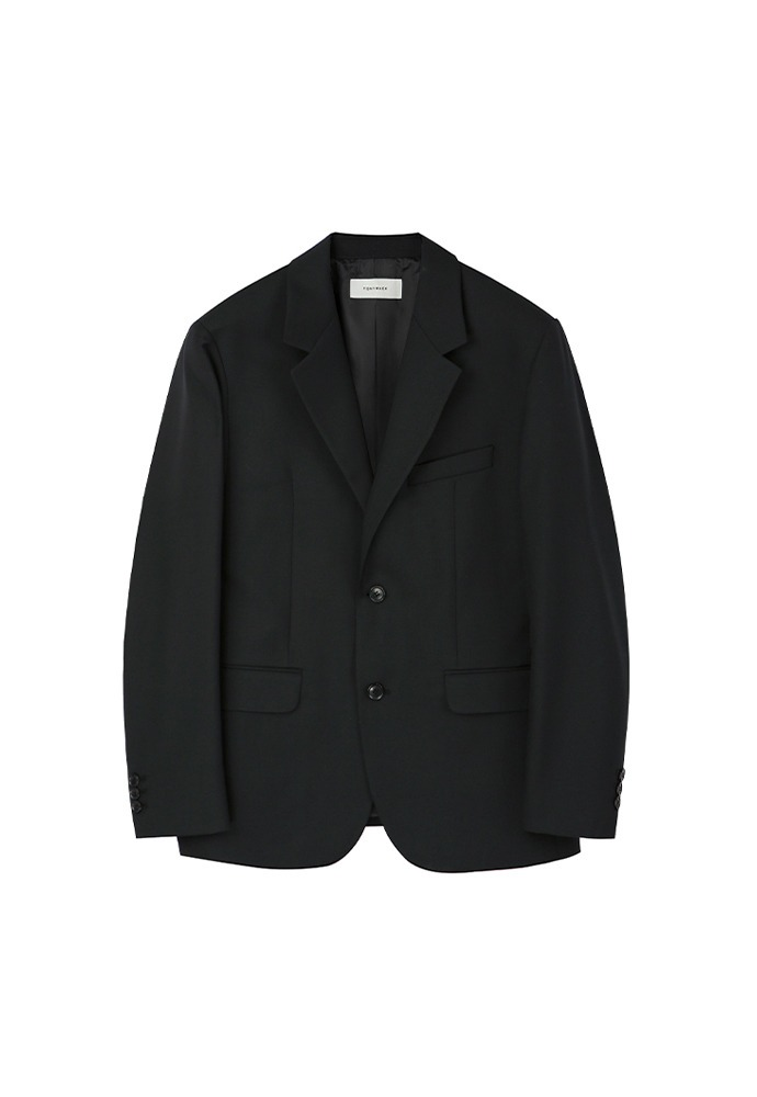 Signature 2-button Blazer_ Black