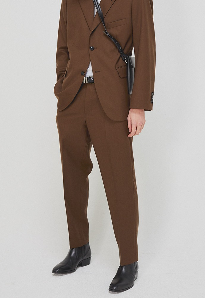 Sortie Classic Trousers_ Lux Brown (Wool 100%)
