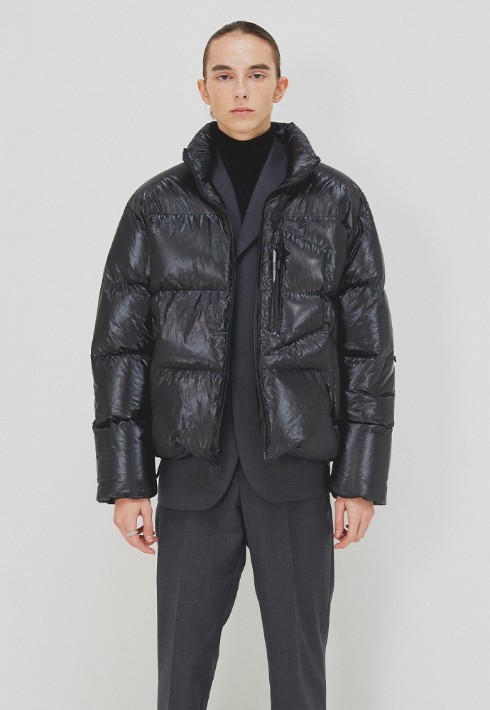 Signature Reversible Goose Down Jacket_ Black Tyvek