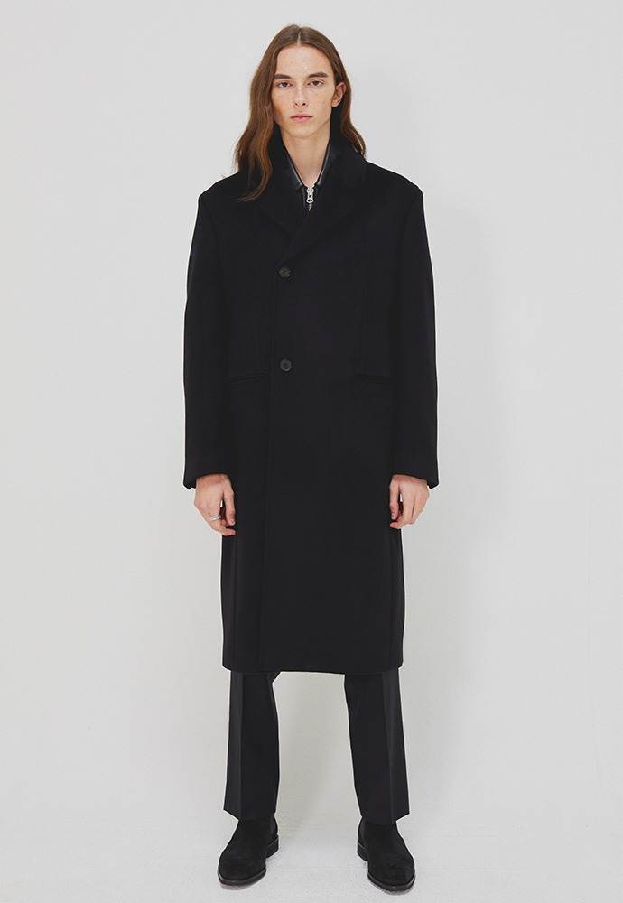 Sortie Cashmere Wrap Coat_ Black