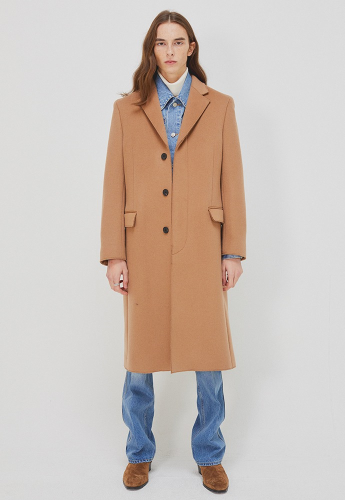 Crudo Cashmere Cutting Coat_ Camel