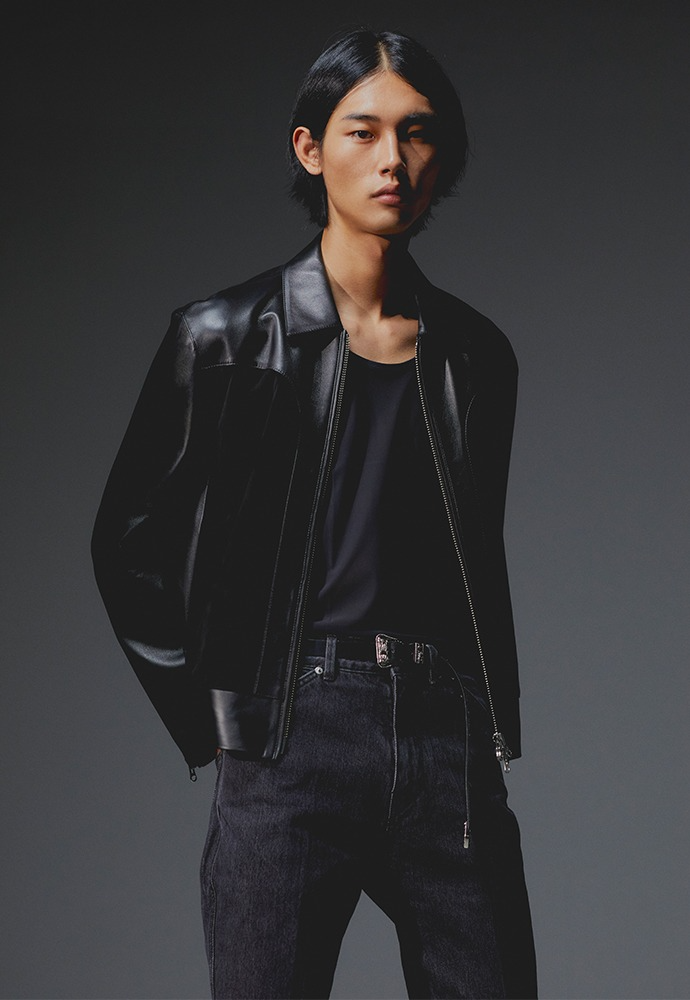 Port Leather Panel Jacket