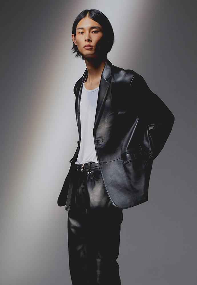 Port Leather Blazer_ Lamb Leather