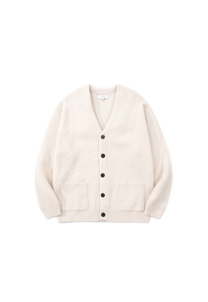 Light Mohair Patch-pocket Cardigan_ Ecru