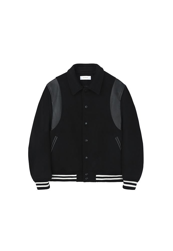 Teddy Varsity Jacket_ Black