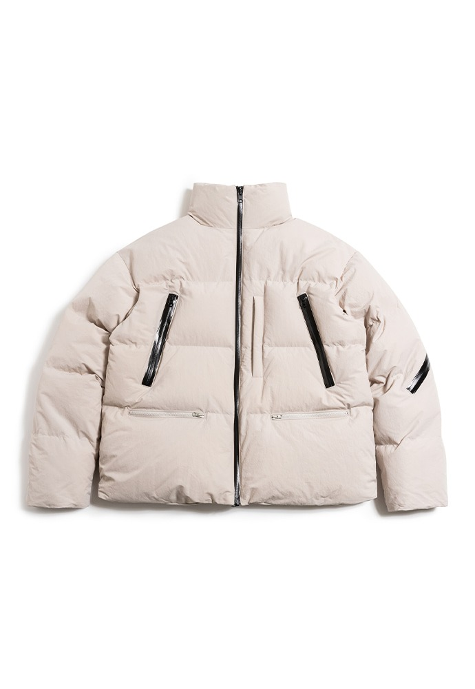 [TONYWACK X UMBRO] Reversible Goose Short Down Jacket_ Cream