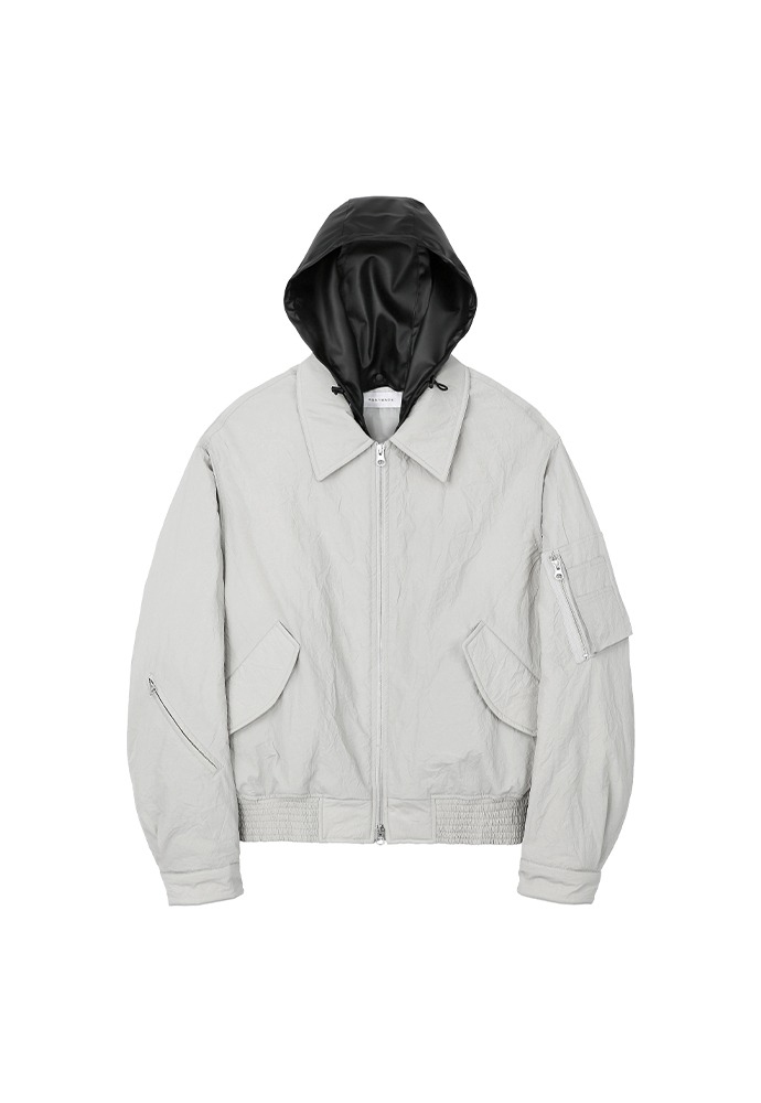 Crisp MA-1 with hood_ Arctic Grey