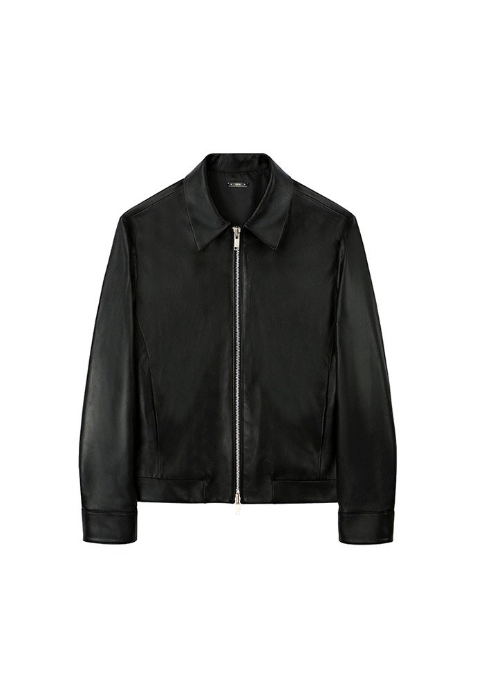 Port Minimal Leather Jacket (cropped)