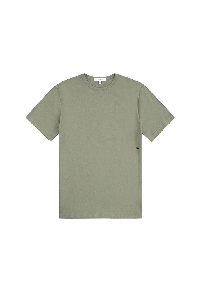 19SS Signature T-Shirt_ Olive