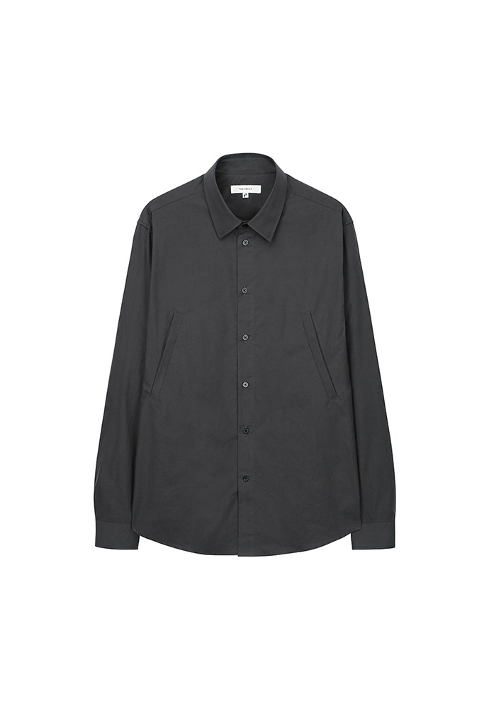 Signature Double-Pocket Shirt_ Charcoal