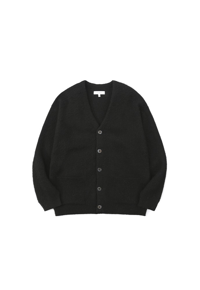 Light Mohair Patch-pocket Cardigan_ Black